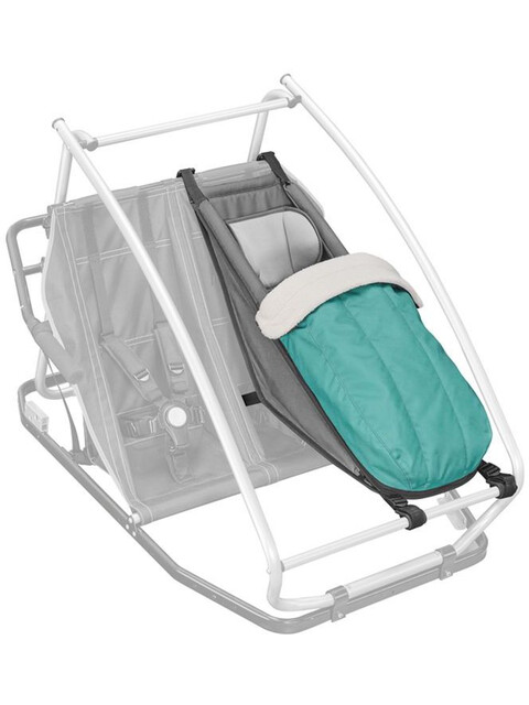 Croozer Winter-Set Vadderat vinterfotparti grön